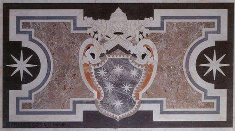padlózat - Clement X címere