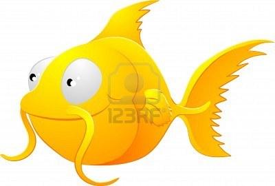LOGOeines-niedlichen-goldfisch-liebenswerte-art-fisch