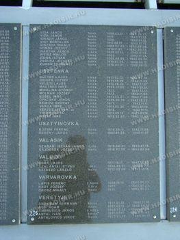 Emléktáblán Visy Bertalan neve is olvasható