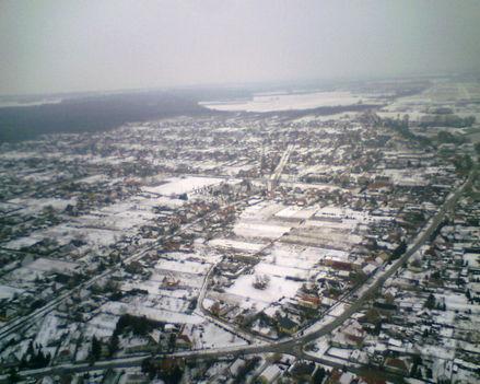 Gönyű felett télen