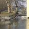 Hegyeshalom,Márialigeti vízerőtelep alvíz, Lajta folyó, 2012. február 01.-én