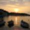 Halászcsónakok Supetar kikötő