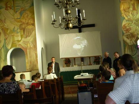Öko tábor előadás a Lépesfalvi evangélikus templomban.