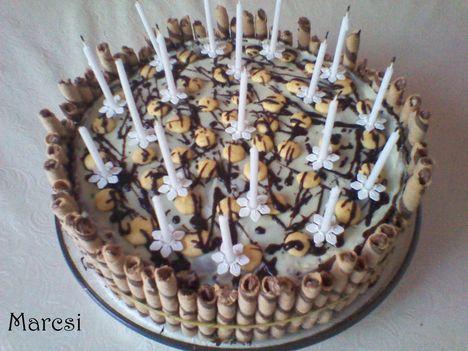 Szülinapi csoki torta