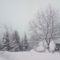 A lehúllott hó állandó mércéje a kerti asztalunk