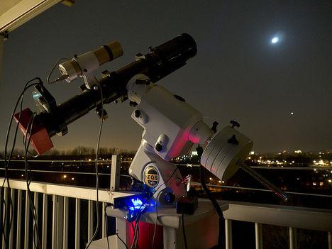 Telescope setup (A Hold és a Vénusz)