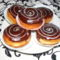 Pudingos csokis fánkok