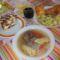 Mai ebéd: marhahús leves,,rántott halfilé,petrezselymes krumpli, csoki torta.és kis vörösbor