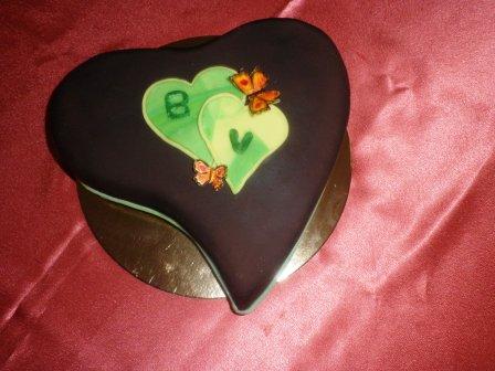Szivecskés torta