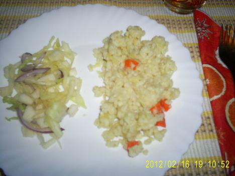 bulguros zöldség savanyúval