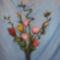 szerencsebambusz rózsákkal