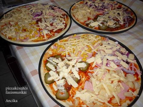 pizza előkészületek