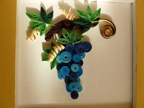 Quilling szőlő 3