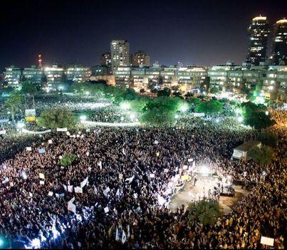 Izraeli tüntetők