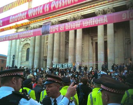 Occupy London kapitalistaellenes tüntetés társadalmi összefogás 3