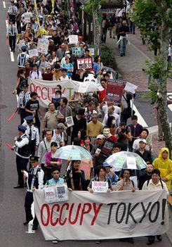Occupy Mozgalom Tokyo-Párizs-Berlin-Frankfurt-Bécs 1