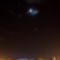 A Vénusz, a Hold és a Jupiter 2012. február 26-án a szolnoki Tiszavirág híd fölött - a Nemzetközi Űrállomás nyomával.