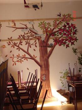 A gyerekek készítette dekoráció