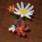 első, gyöngyből készült virágaim. hóvirág, krókusz, margaréta, tulipán