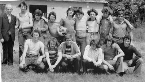 Foci csapat a 70-es évek közepén