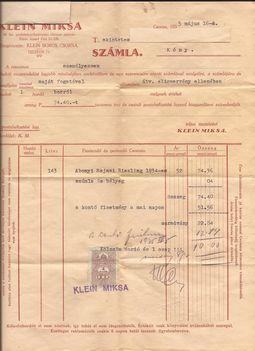1935. számla