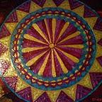 mandala nagy bordó-hála kép