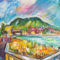 Balaton, Tihany, Badacsony, művészet, art, festmény, galéria 1 SCSK: Badacsonyi fények