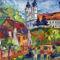 Balaton, Tihany, Badacsony, művészet, art, festmény, galéria 1 SCSK: Tihanyi séta