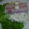 Francia saláta, tormás sonkatekerccsel