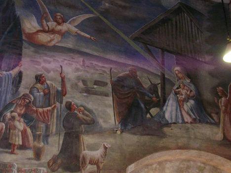 SOPRONbánfalvi -templom falfestménye