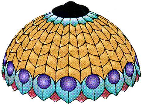 tiffanylampa pávaszemes minával