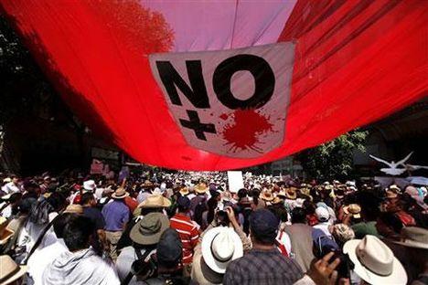 ne több vért! mexikói tüntetés a háború és a drogok ellen