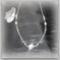 Pipacsos nyaklánc ezüstszürke 1