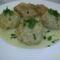 Sült csirke kelkáposzta gombóccal és fokhagyma mártással