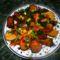 Zöldséges sült csirkecomb