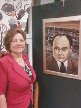 100 híres magyar között Czeglédi Gizella Neumann János arcképét is bemutatta 2012. március elején nyílt kiállításán