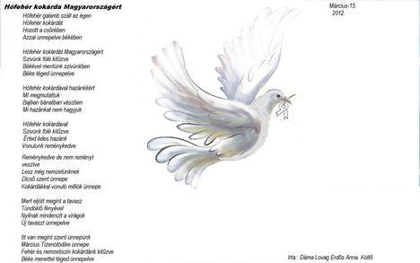 Március 15. fehér galamb