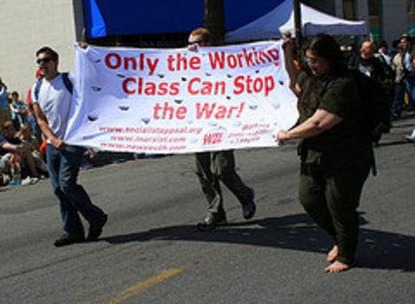 csak a munkásosztály képes megállítani a háborút