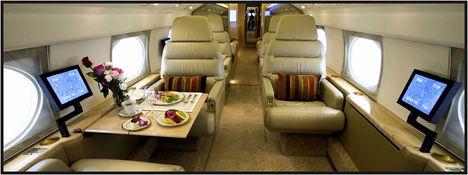 luxusrepülő belülről