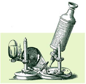 Robert Hooke mikroszkópja 1665-ből