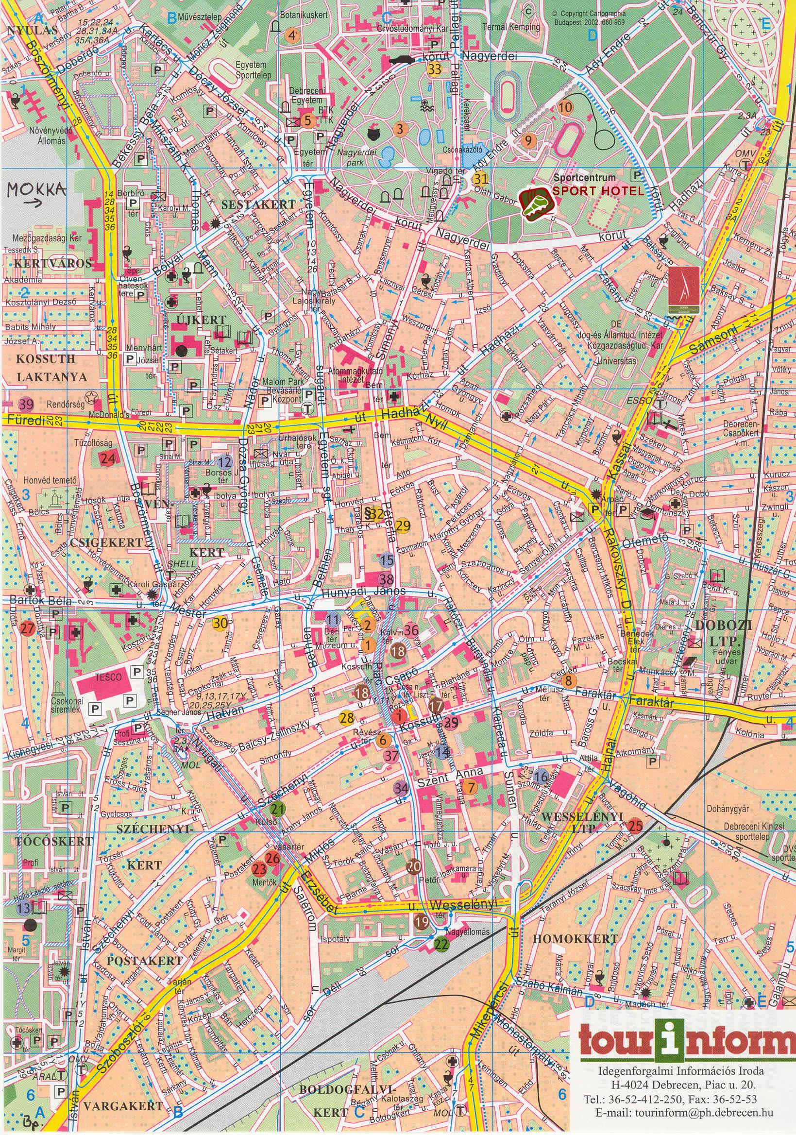 debrecen térkép Debrecen: Debrecen térkép (kép)