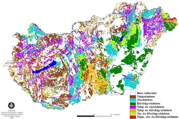 virtuális térkép magyarország Térkép: Magyarorszag tajvedelmi körzetei (kép) virtuális térkép magyarország