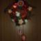 Húsvéti ajtódísz horgolt virágokkal 027