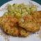 Fokhagymás petrezselymes  rántott csirkemell