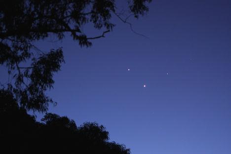 Jupiter - Vénusz - Merkur