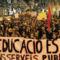 Barcelonai tüntetés a szociális háló lebontása ellen 5