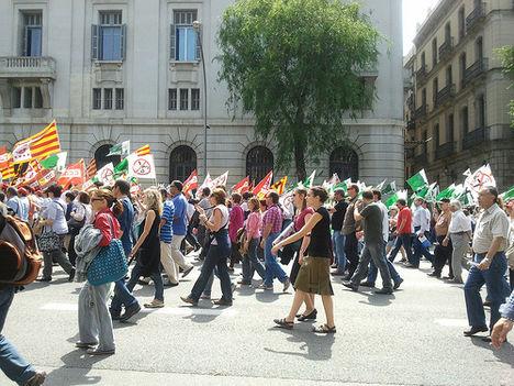 Fiatalok tüntetése Barcelona 5