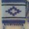 Kék kistari, kisrózsa mintával - 18x21cm - 2500.- értékben