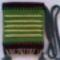 Kistarisznya, bordó alapon csupazöld mintával, szumák csomózásos sorokkal - 2200.- értékben
