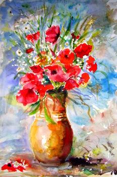 Pipacsos váza